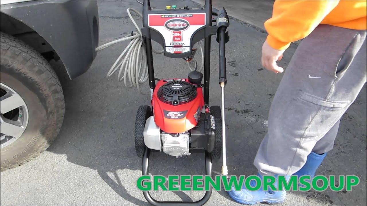 3000 Psi Honda Engine Simpson Power Washer Youtube