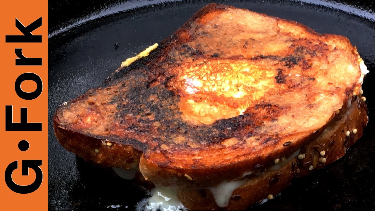 grilled cheese on stove