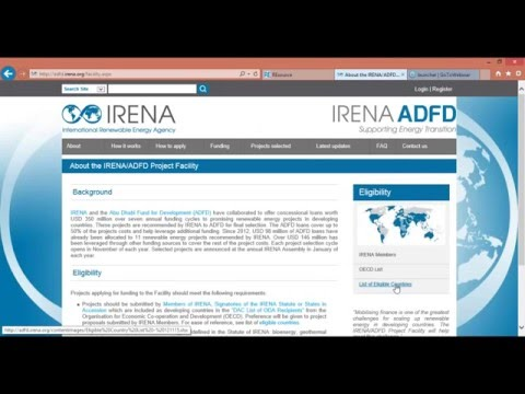 Guidance for applicants in the fourth cycle of the IRENA/ADFD project facility
