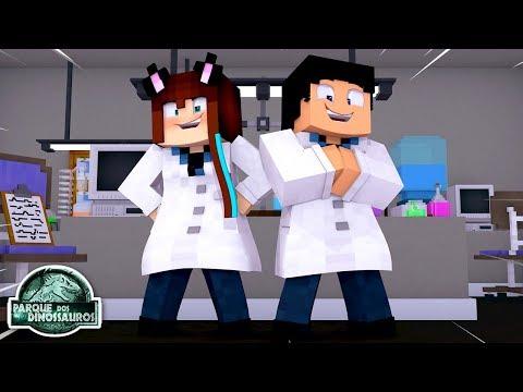 CONSTRUINDO O LABORATÓRIO! - Minecraft Parque Dos Dinossauros #06