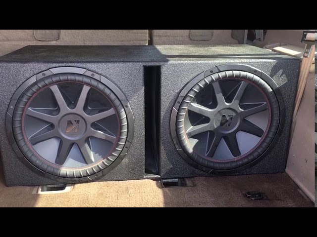 Two 15 inch kicker subwoofers 3000 watt brutus amp basss not boosted