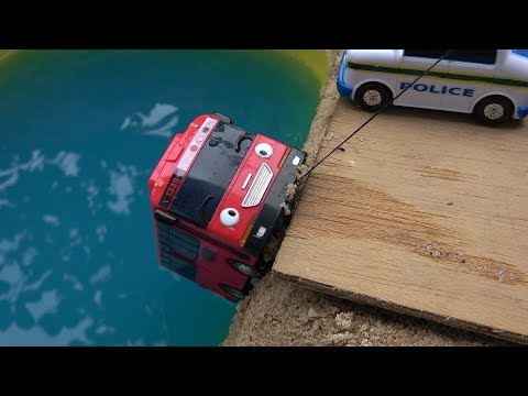 Thumbnail: Stop stop! Tayo the Little Bus in Real Life. Gani be careful. Gani bus falls into River