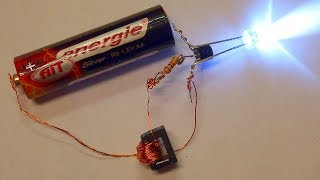 How to Build a Joule Thief - Step by Step (The simplest switching power supply / inverter)