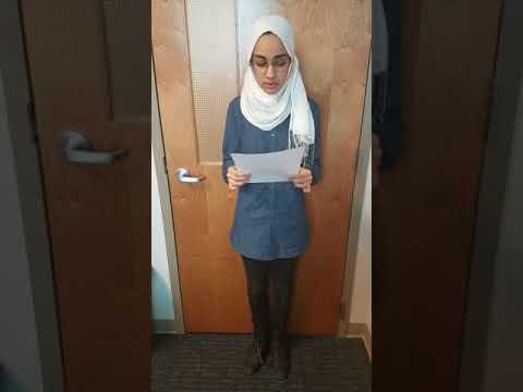Hajar's Ursuline College Do Something Scholarship Video