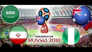 TURNIEJ PANINI FIFA WORLD CUP RUSSIA 2018 ARABIA SAUDYJSKA - IRAN , AUSTRALIA - NIGERIA