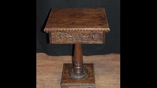 Antique Carved Burmese Side Hall Table Wood