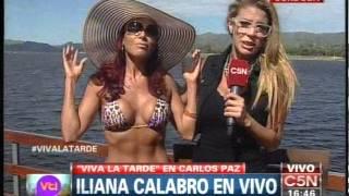 C5N - VIVA LA TARDE: ILIANA CALABRO EN CARLOS PAZ (PARTE 1)