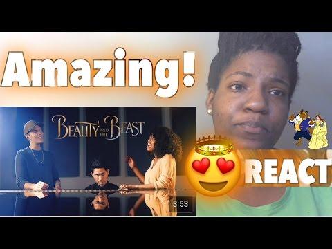 Beauty and the Beast - Leroy Sanchez & Lorea Turner REACTION!