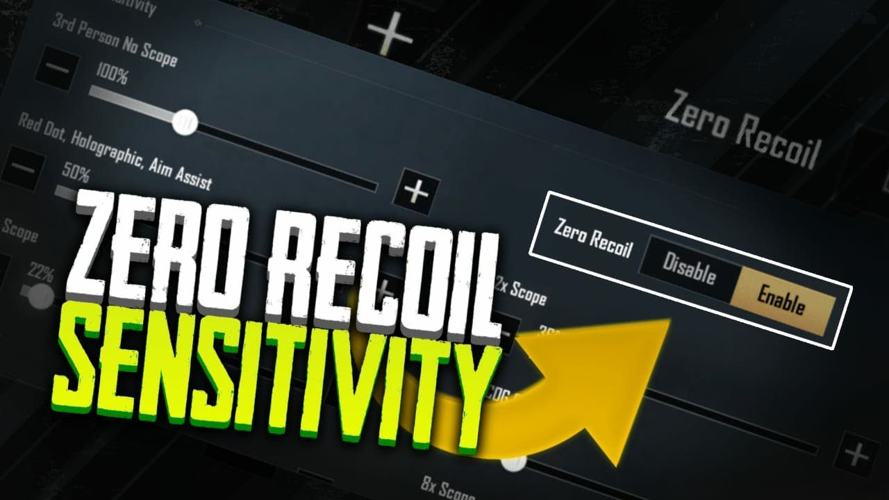 Pubg Mobile Best Sensitivity / Pubg Mobile Zero Recoil Setting