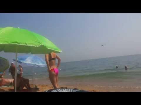 Вертушки над пляжем!