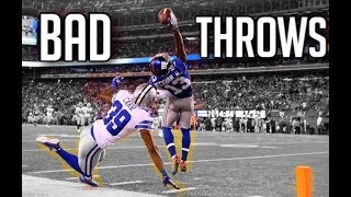 NFL Best Catches From Bad Throws || HD