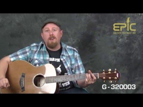 Learn EZ beginner Eagles song Tequila Sunrise guitar lesson with chords strum patterns rhythms