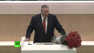 Сергей Аксенов и Владимир Константинов принимают участие в заседании Совета Федерации