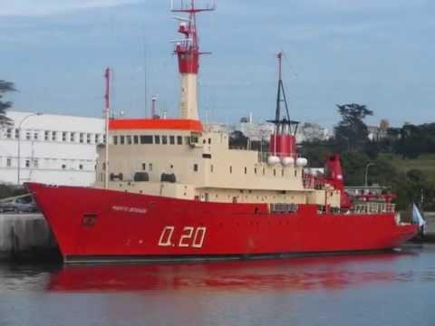 """Buque Oceanografico ARA """"Puerto Deseado"""" CONICET. Campaña 2010"""