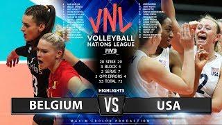 Belgium Vs. USA | Highlights | Women's VNL 2019
