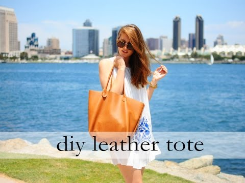 How to Sew a Leather Tote - YouTube