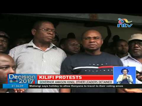 Kilifi's Governor Amason Kingi and other leaders detained