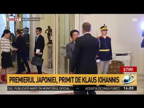 Premierul Japoniei, primit de Klaus Iohannis