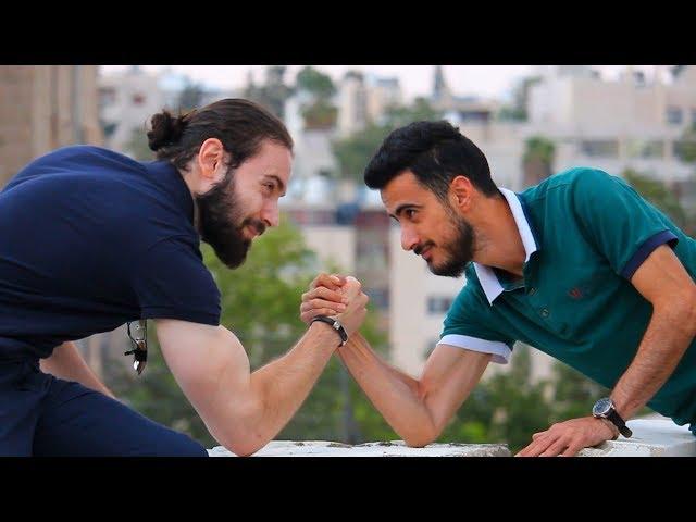 تحدي مكاسرة الناس في الشارع!! 💪 اللي يخسرني بعطيه 50 دينار!! مقالب في الرياضة والبروتين