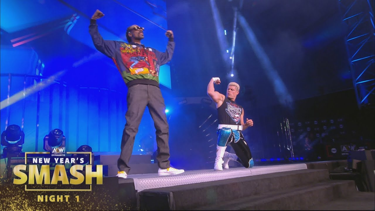 The Coolest Entrance of the Year - Snoop Dogg and Cody Rhodes | AEW New  Year's Smash Night 1, 1/6/21 - YouTube
