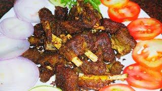 Simple Mutton Fry Recipe   Delicious Fried Mutton   Quick Mutton Starter Recipe