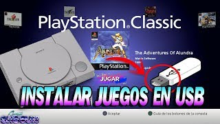 NUEVO MÉTODO Instalar juegos en USB en el menú de Playstation Classic, Juega con el menú original