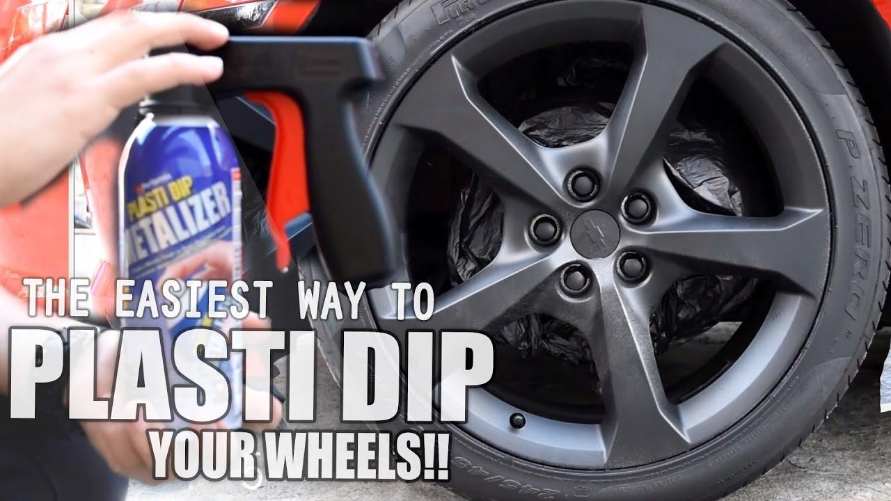 How to Plasti Dip your Wheels/Rims W/ Black Metalizer - (Camaro)