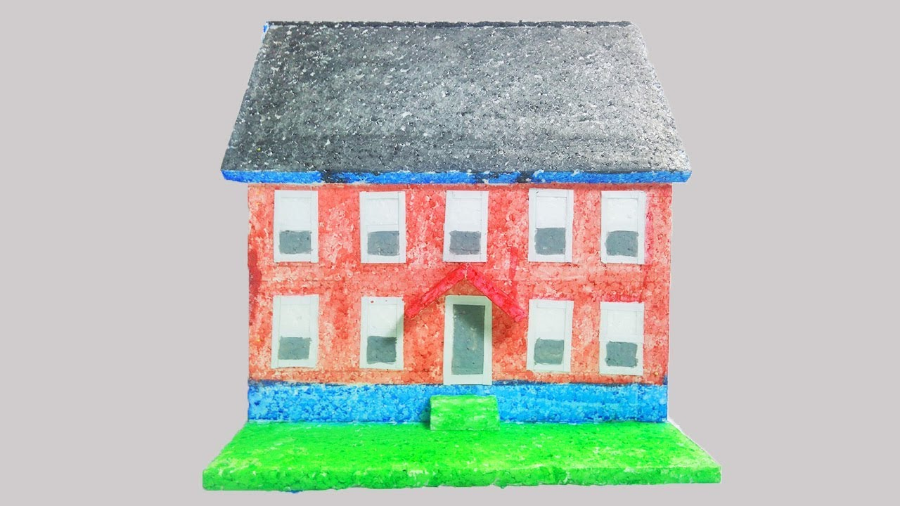 How To Make Thermocol House Model Best School Project For Kids Diy Small Thermocol House