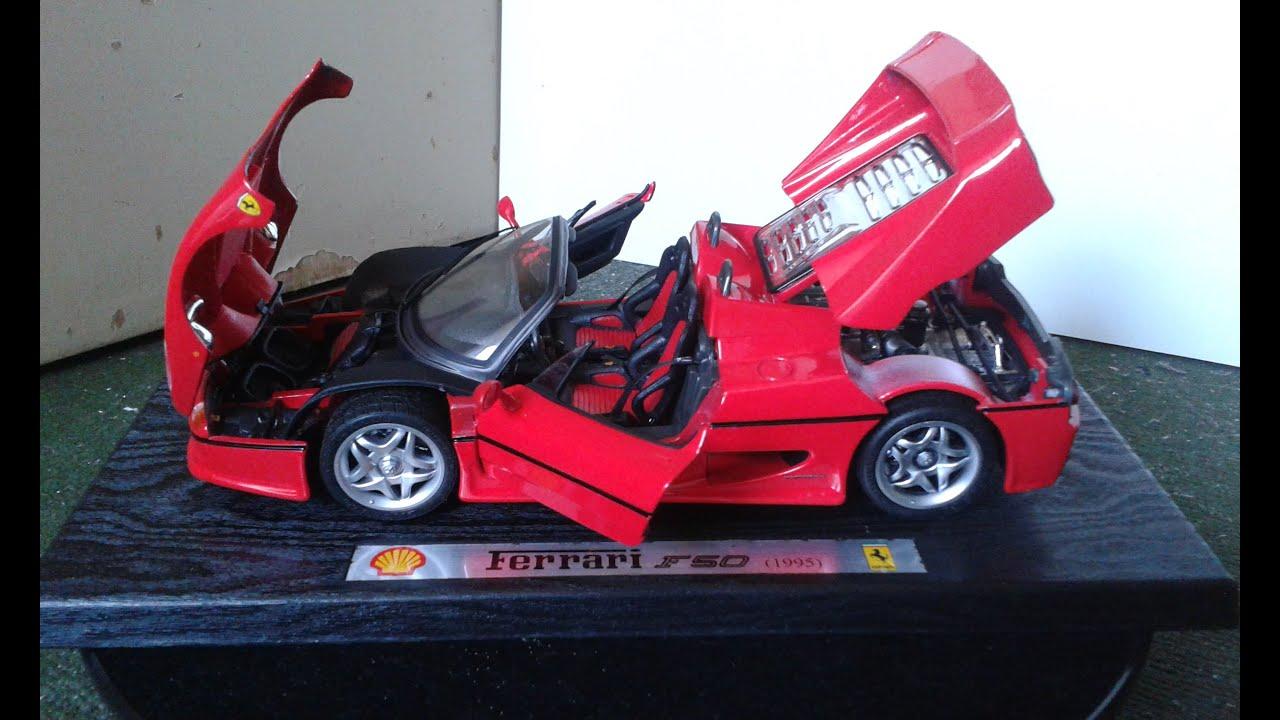 Ferrari f50 escala 118 modelo 95 da shell youtube ferrari f50 escala 118 modelo 95 da shell vanachro Choice Image