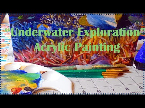 Underwater Exploration - Acrylic Painting Timelapse