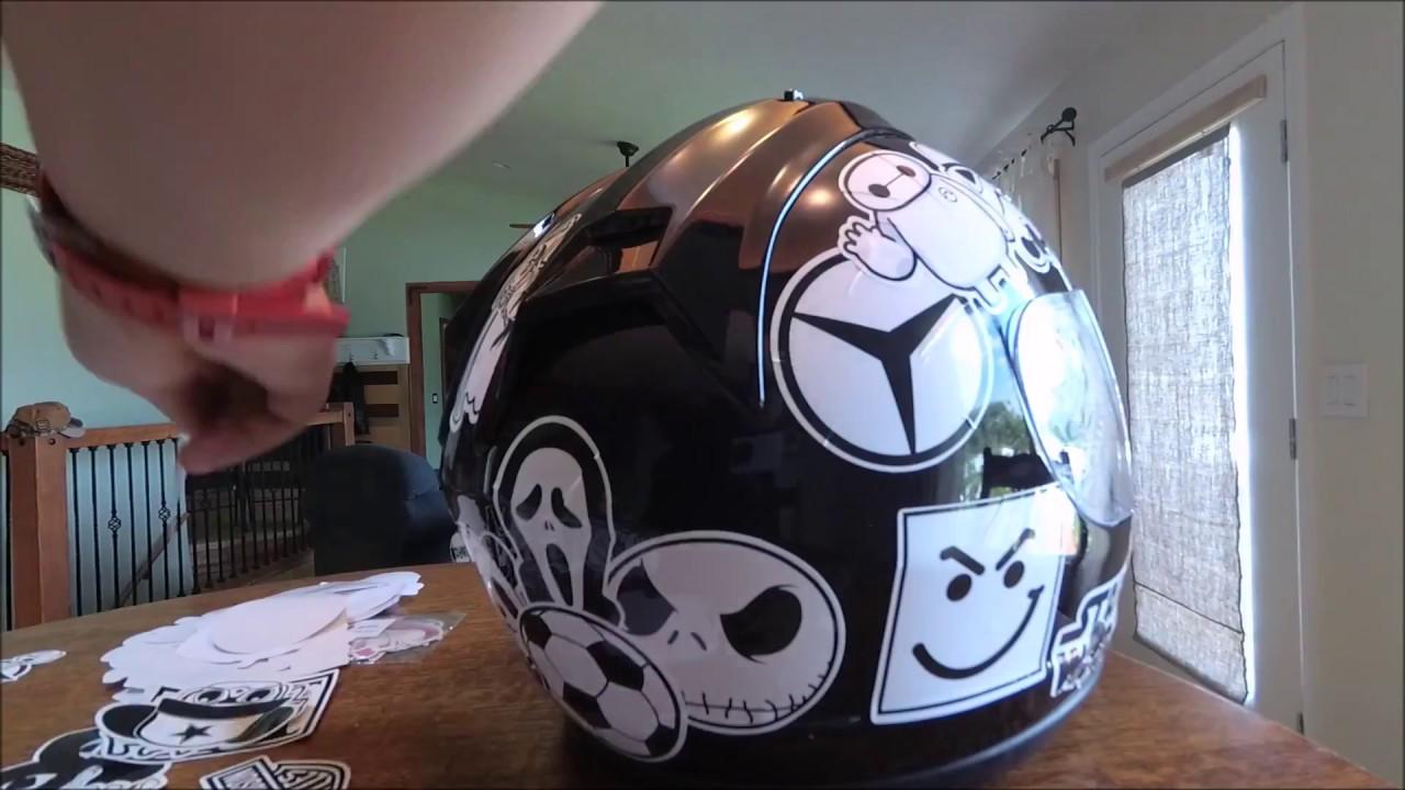 Helmet Sticker Bomb 101 Make Your Moto Helmet Cool