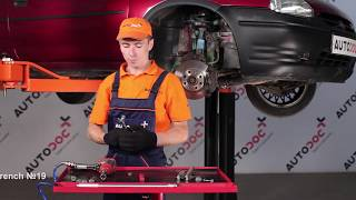 How to replace Tie rod end on OPEL CORSA B (73_, 78_, 79_) - video tutorial
