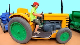 Ride on Tractor broken down | Family Fun Day at Amusement Park | Video for Kids by TimKo Kid