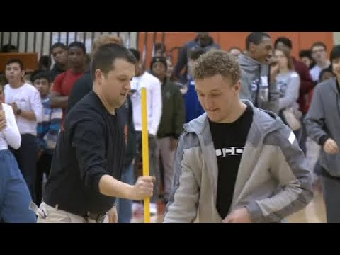 Northrop students tries for world record Knockout game