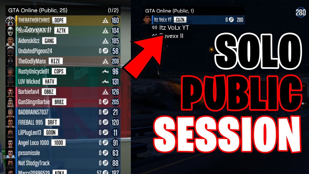 New Solo Public Lobby Method In GTA Online  How to Get In a SOLO Public Lobby