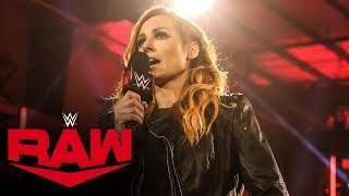 Becky Lynch announces she's pregnant: Raw, May 11, 2020