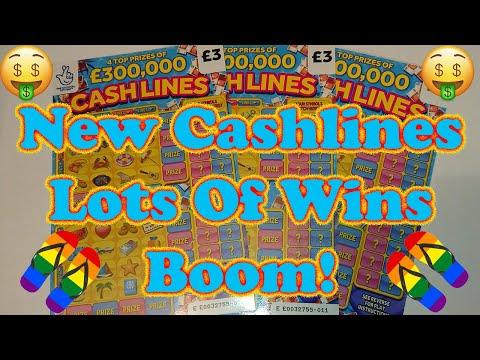 🤑 New £3 Cash Lines Scratchcards 💰 Profit 💰 UK scratch cards 😀 New Cashlines 😀