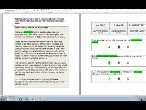 How To Answer Verbal Reasoning Tests Youtube