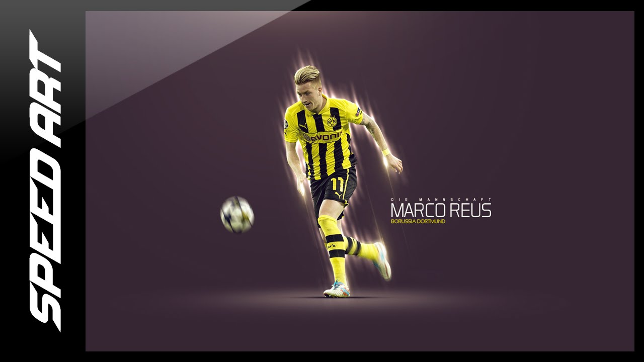 ff4577246 Photoshop Graphic Design - Football Wallpaper - Marco Reus - YouTube