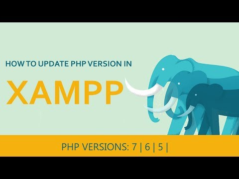 How to update php version in xampp | 2018