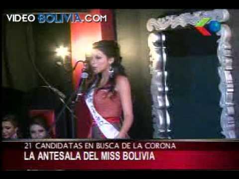 Presentación oficial de candidatas a Miss Bolivia