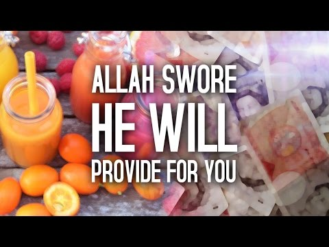Allah SWORE He Will Provide For You!!!