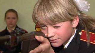 Guns and cookery: The Russian military school for girls
