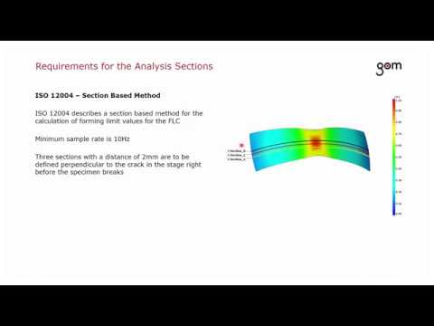 GOM Webinar Determination of Forming Limit Curves in ARAMIS