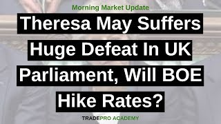 Theresa May suffers huge defeat in UK parliament, will BOE hike rates?