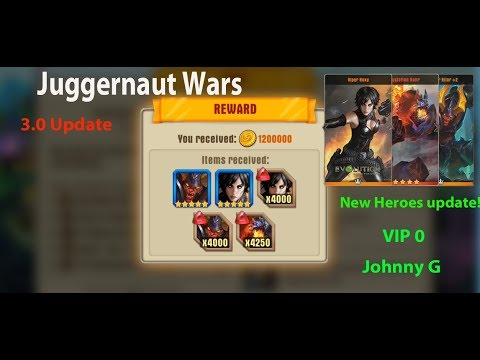 Juggernaut Wars - 3.0 Update  New Heroes Kroffdor, Crystalion And Viper