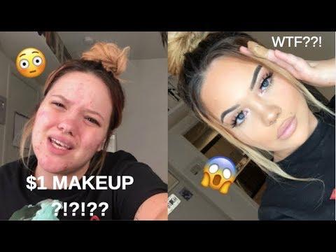 $1 makeup tutorial!! omg thumbnail