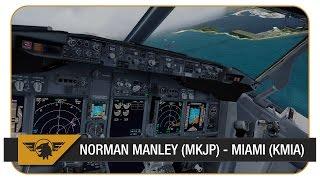 One of Matt Davies's most viewed videos: [Prepar3D] PMDG NGX | AAL1545 | Stormy Weather! | VATSIM | Norman Manley (MKJP) - Miami (KMIA)