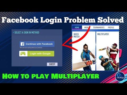 Real Cricket 19 Facebook Login Problem Solved| Multiplayer Working👍👍