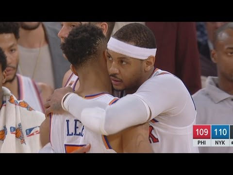 Carmelo Anthony Game Winner! Nearly Blew a Lead! 76ers vs Knicks